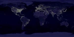 świat nocą